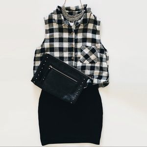 Forever 21 Plaid Crop Top S